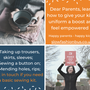 Sustainable clothes style eco friendly upcycled clothes online courses how to upcycle mend online workshops learn to upcycle clothes